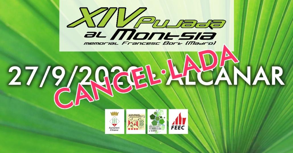 XIV Pujada al Montsia 2020, cancel·lada